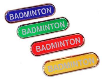 BADMINTON bar badge